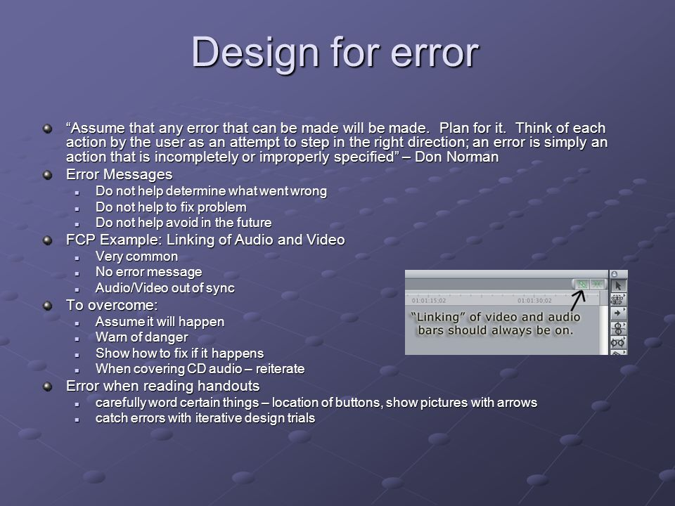 Design for error