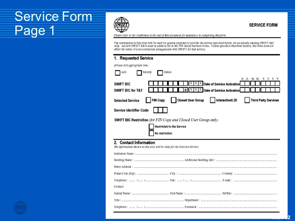 Service Form Page 1