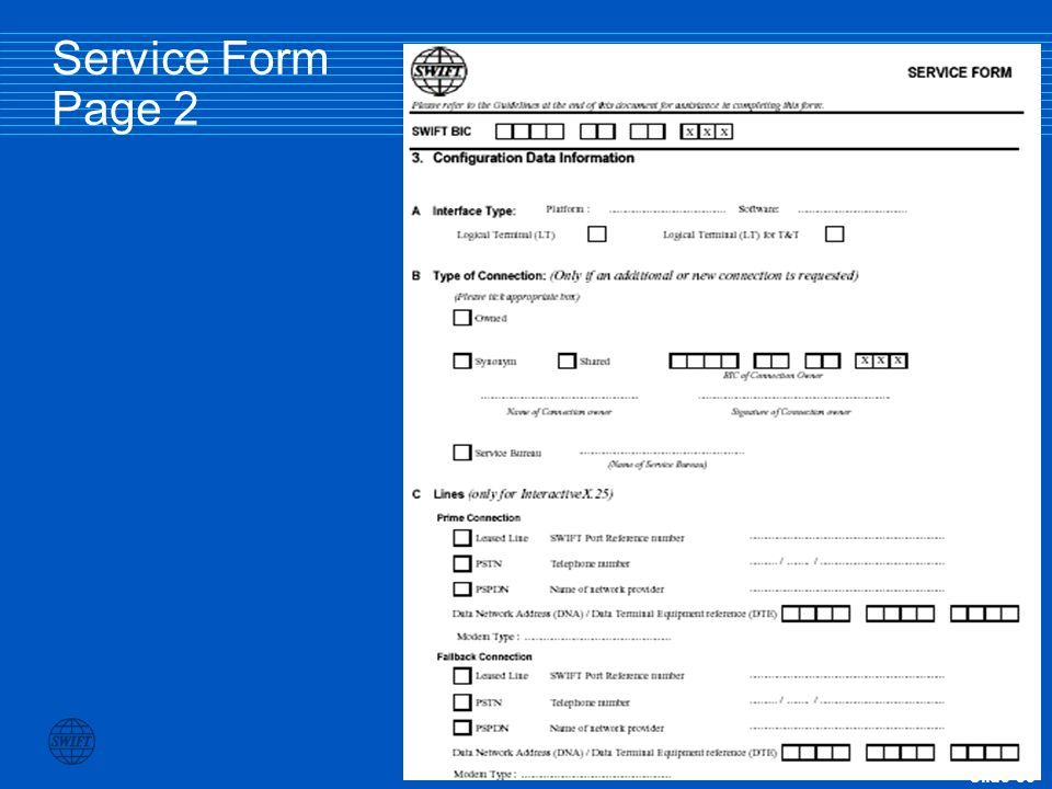 Service Form Page 2
