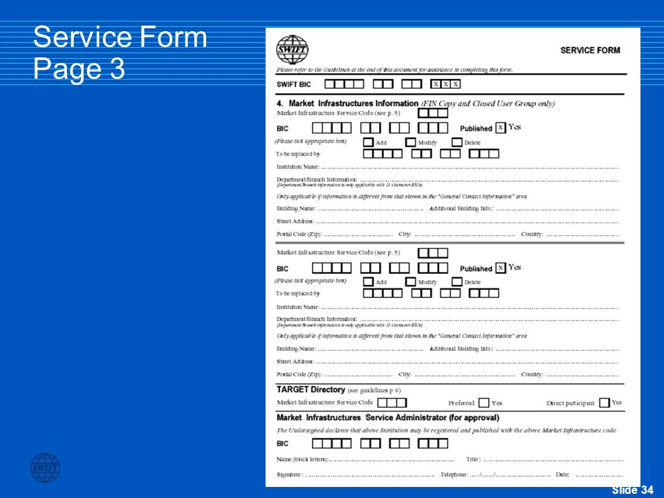 Service Form Page 3
