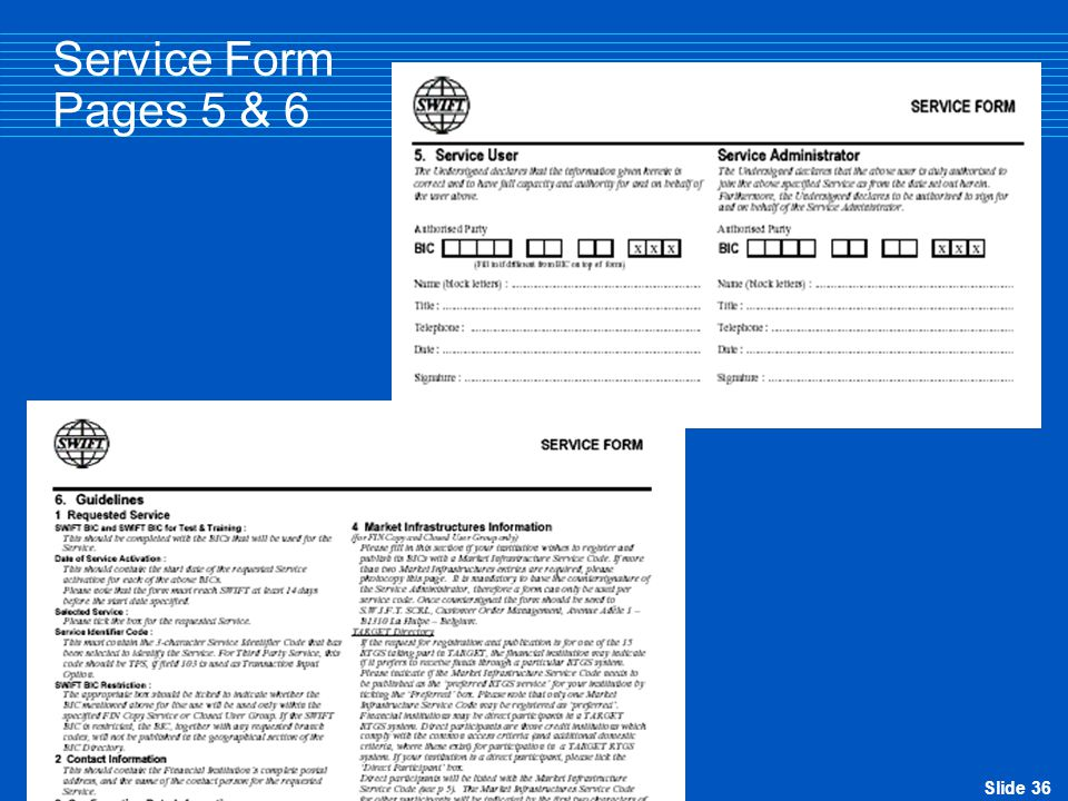 Service Form Pages 5 & 6