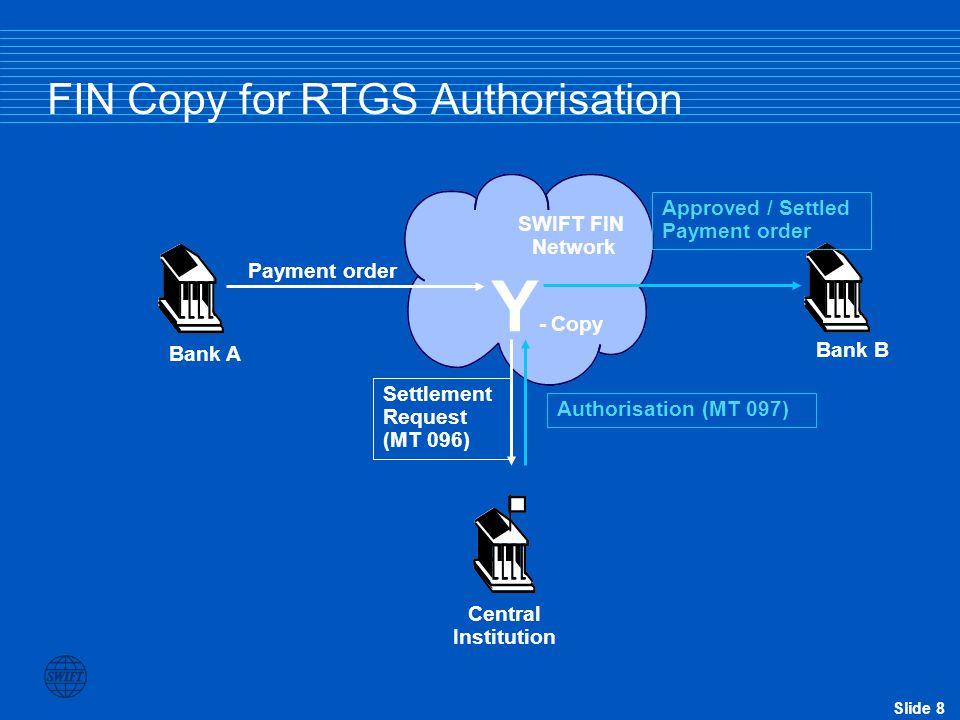 FIN Copy for RTGS Authorisation