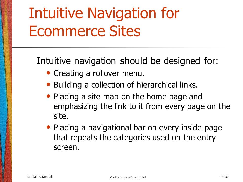 Intuitive Navigation for Ecommerce Sites