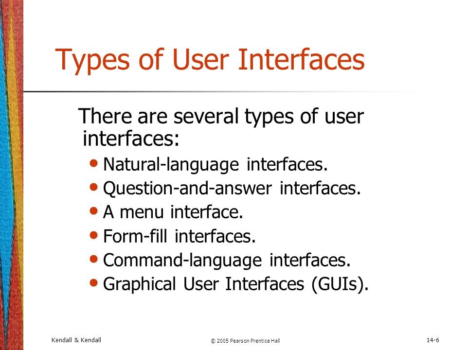 Types of User Interfaces