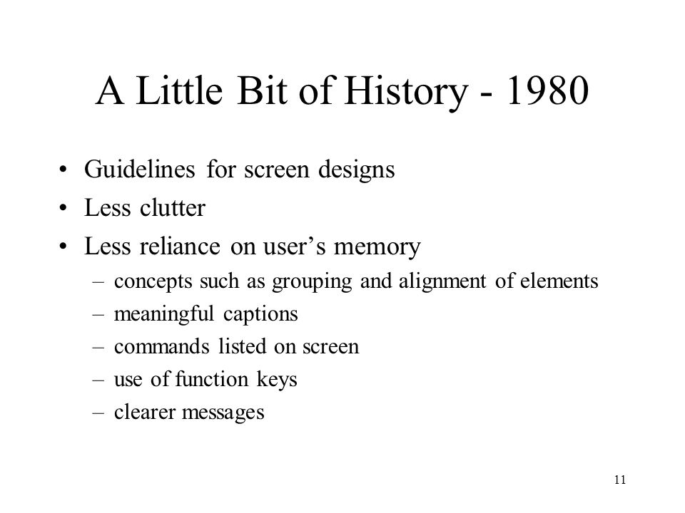 A Little Bit of History - 1980
