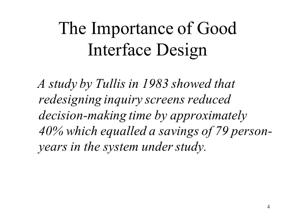 The Importance of Good Interface Design
