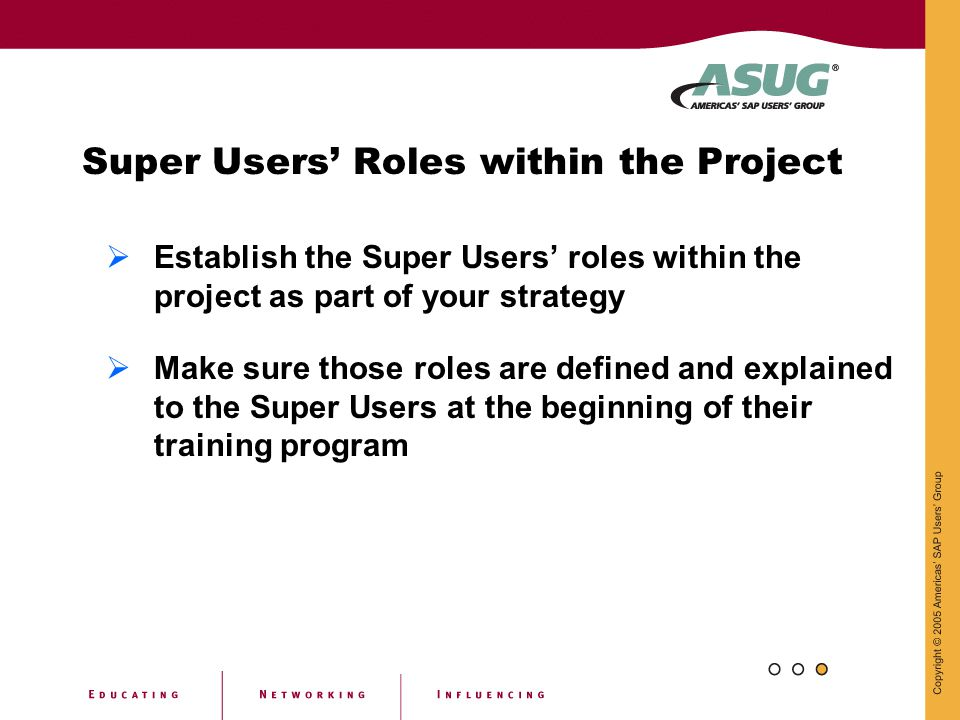 Super Users' Roles within the Project