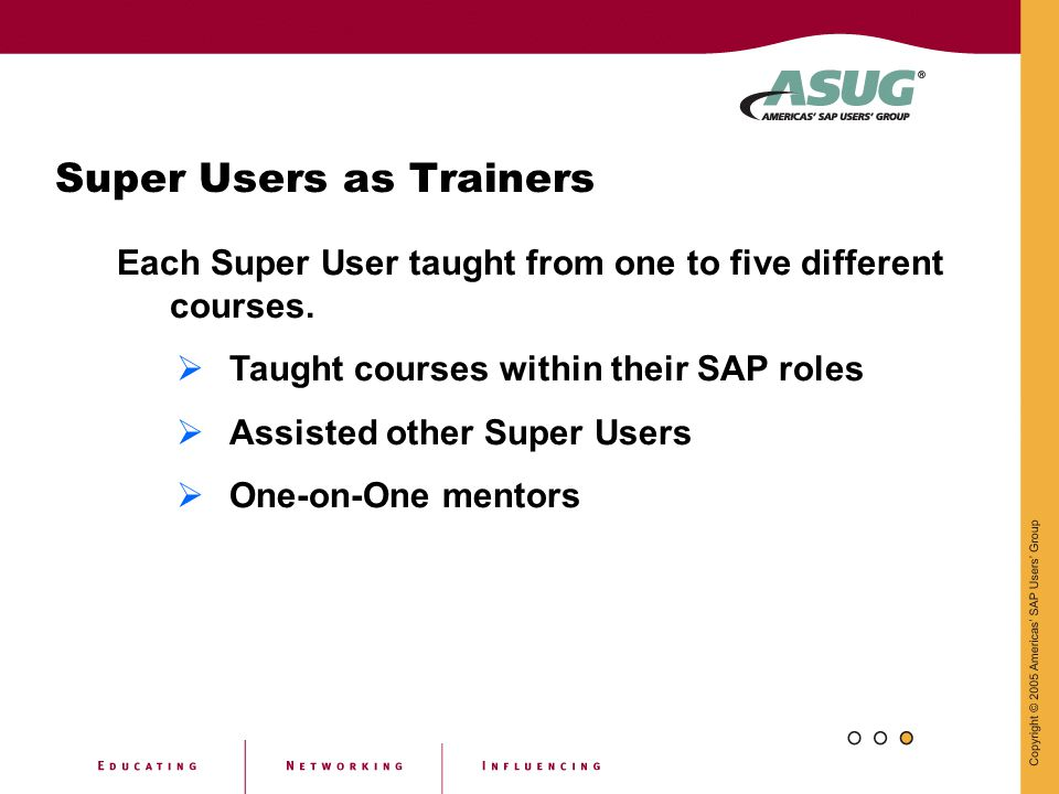 Super Users as Trainers