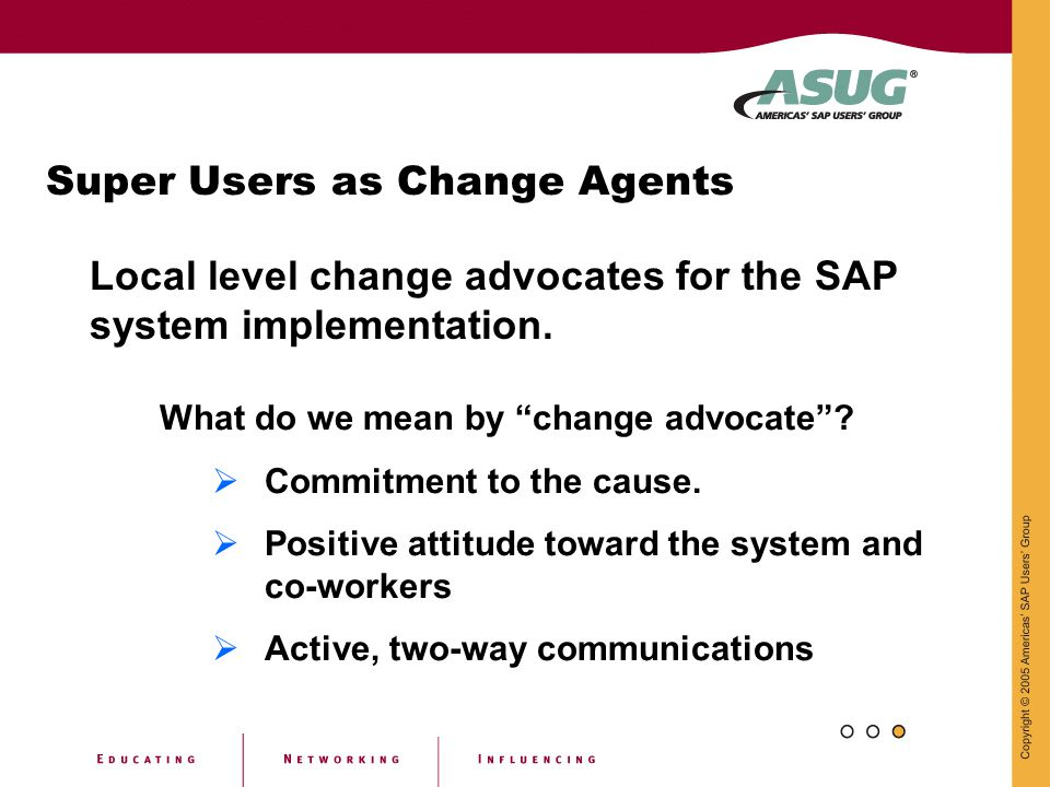 Super Users as Change Agents