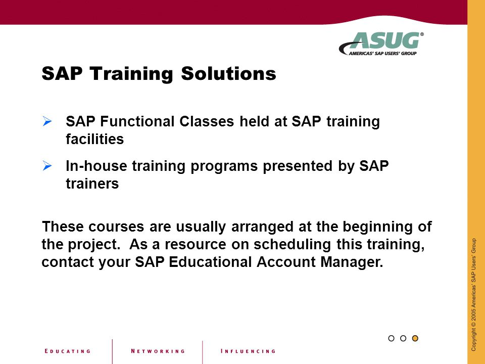 SAP Training Solutions