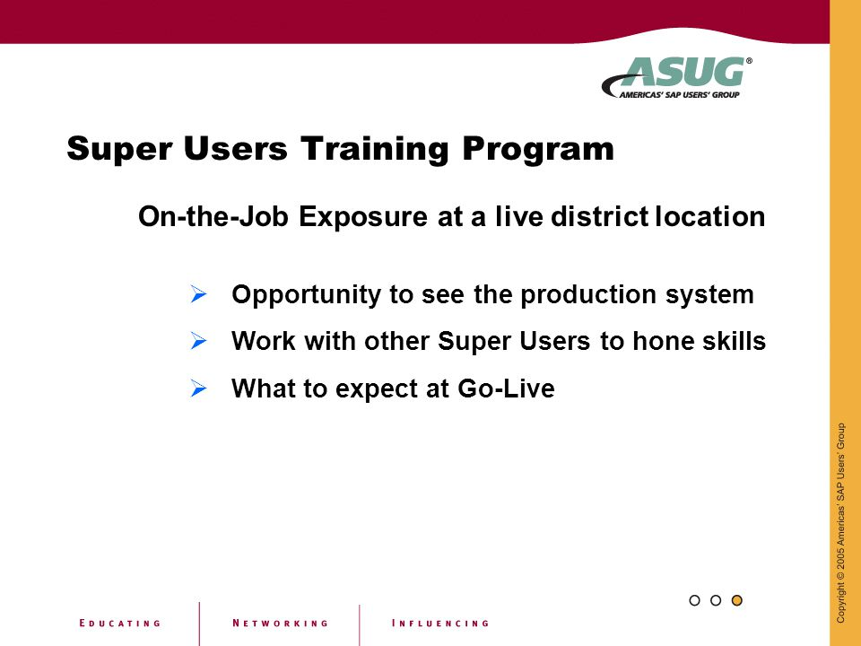 Super Users Training Program
