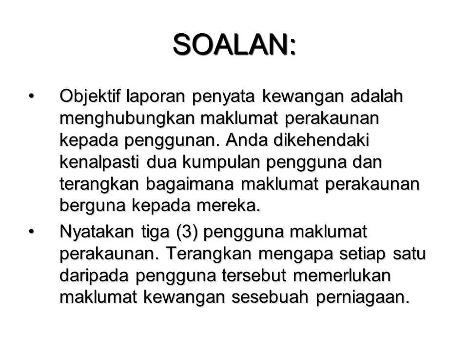 SOALAN: