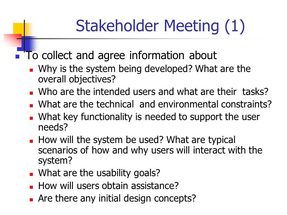 Stakeholder Meeting (1)