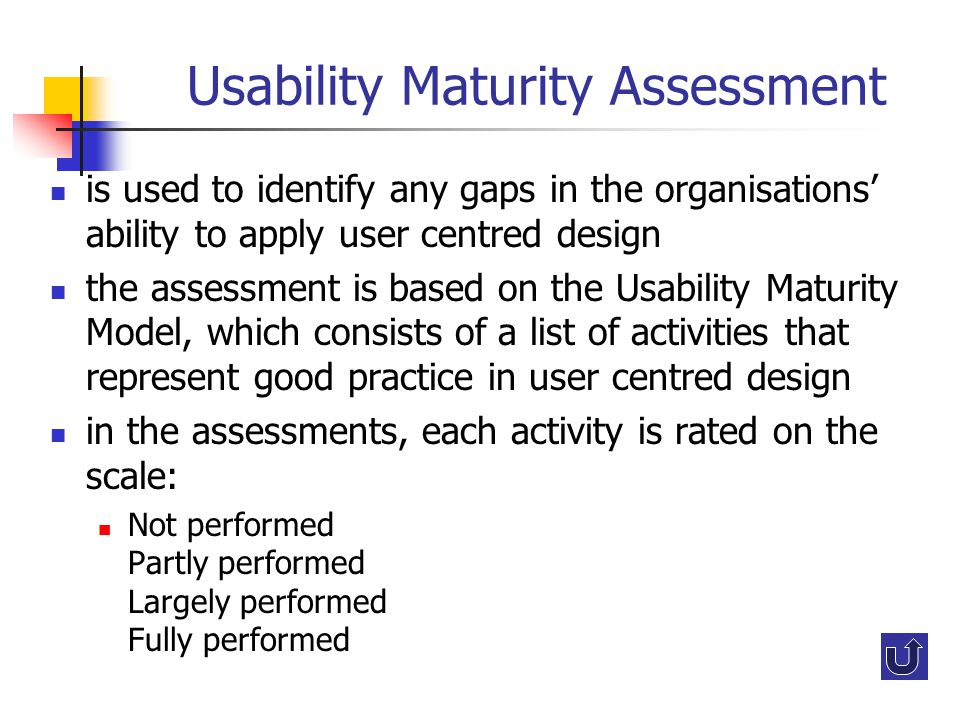 Usability Maturity Assessment