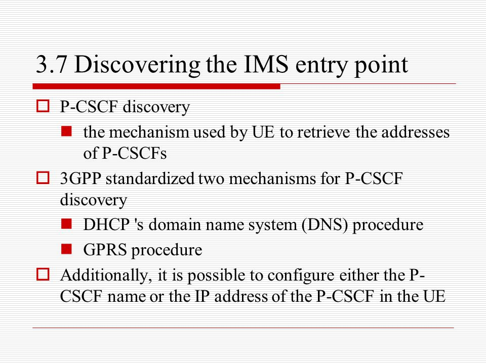 3.7 Discovering the IMS entry point