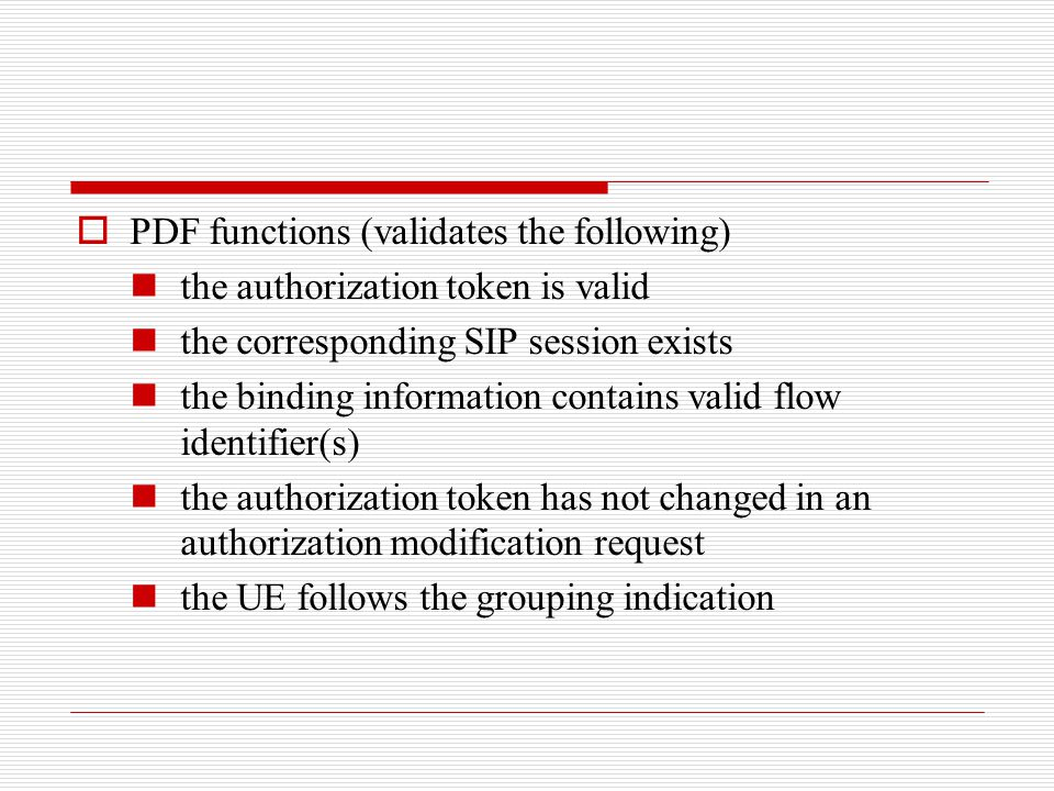 PDF functions (validates the following)