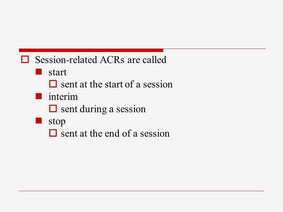 Session-related ACRs are called