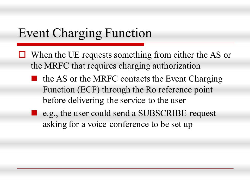 Event Charging Function