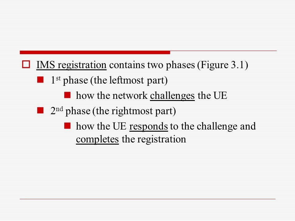 IMS registration contains two phases (Figure 3.1)