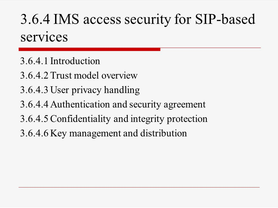 3.6.4 IMS access security for SIP-based services
