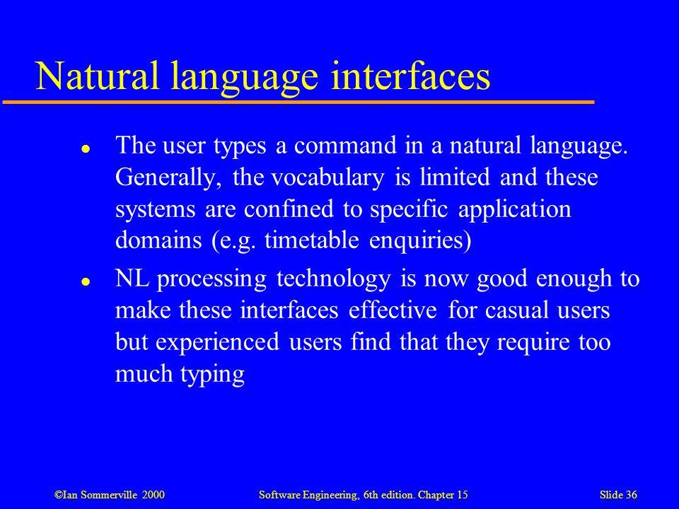 Natural language interfaces