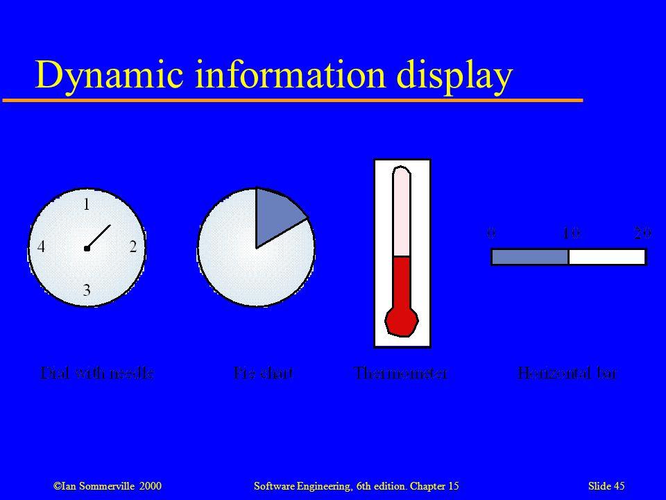 Dynamic information display