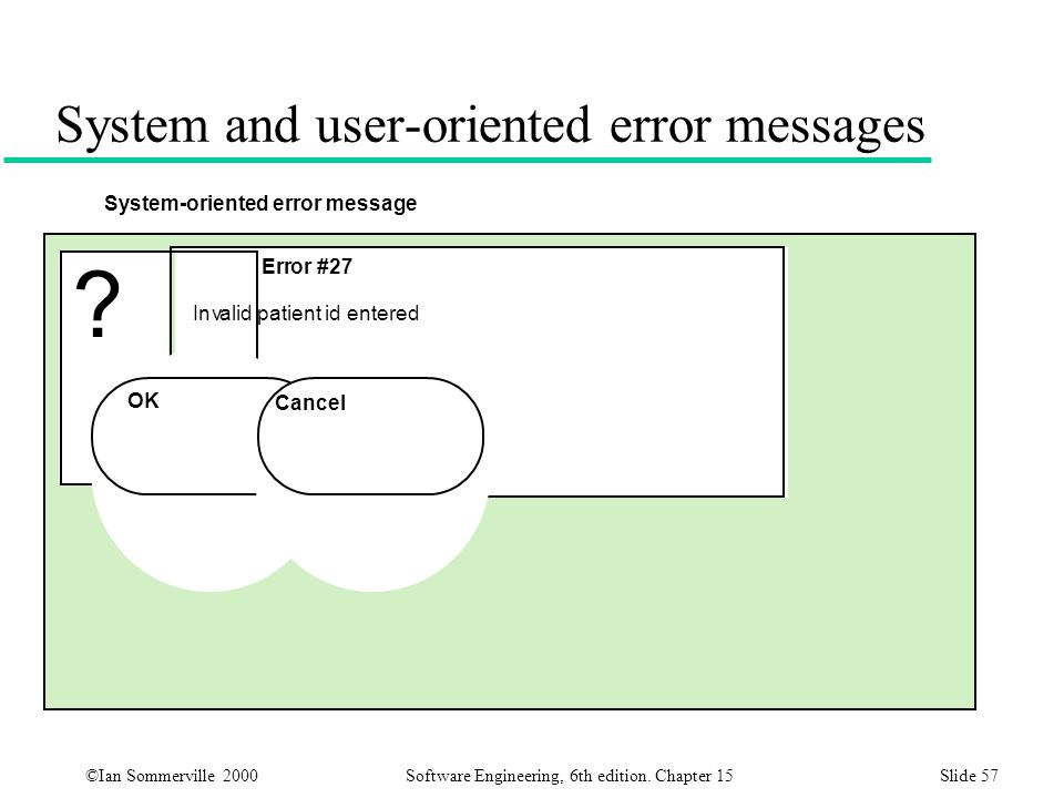 System and user-oriented error messages