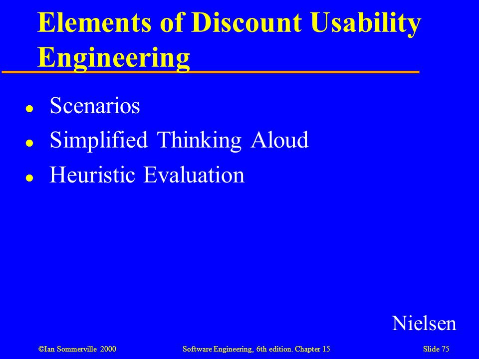 Elements of Discount Usability Engineering