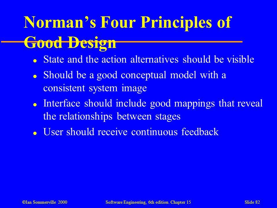 Norman's Four Principles of Good Design
