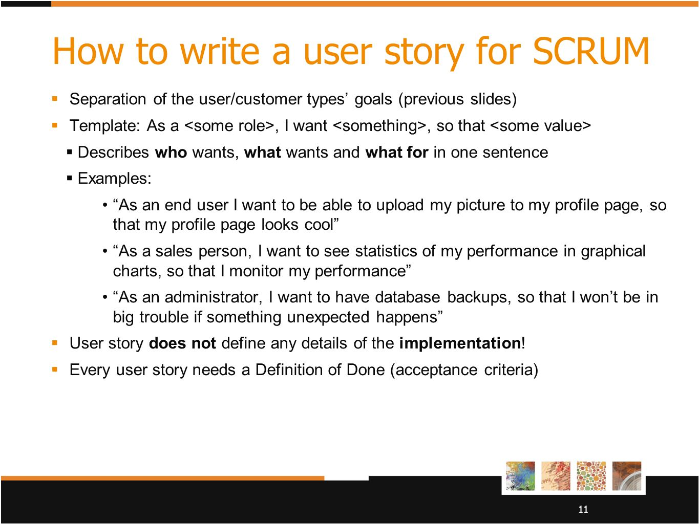 User story in brief merja bauters ppt video online download for As a user i want user story template