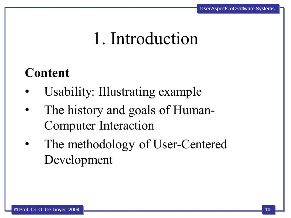 1. Introduction Content Usability: Illustrating example