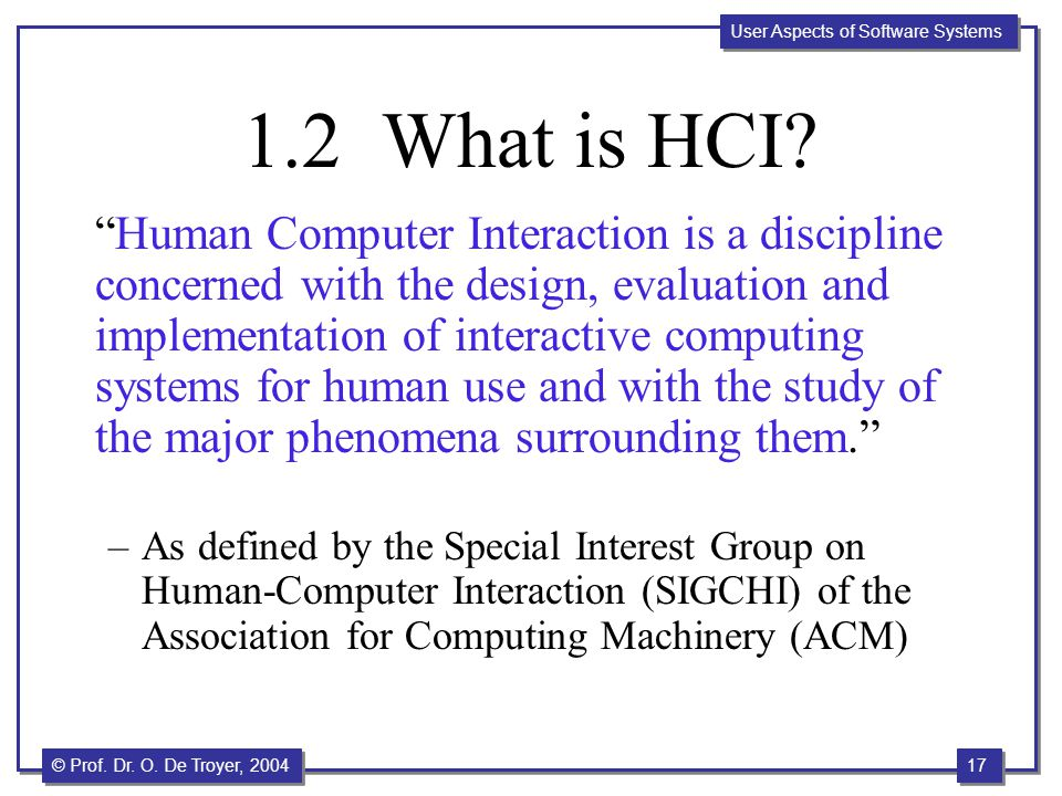 1.2 What is HCI