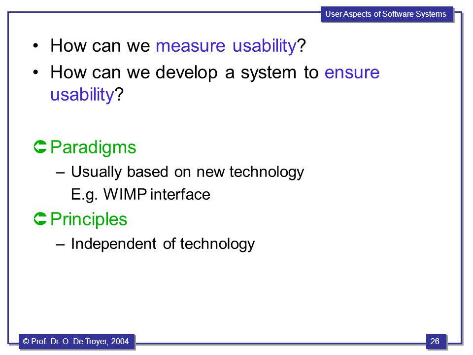 How can we measure usability
