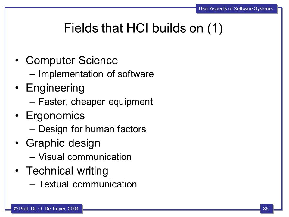 Fields that HCI builds on (1)