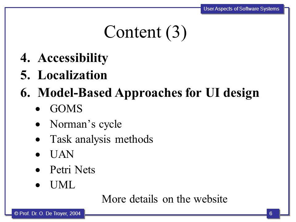 Content (3) Accessibility Localization