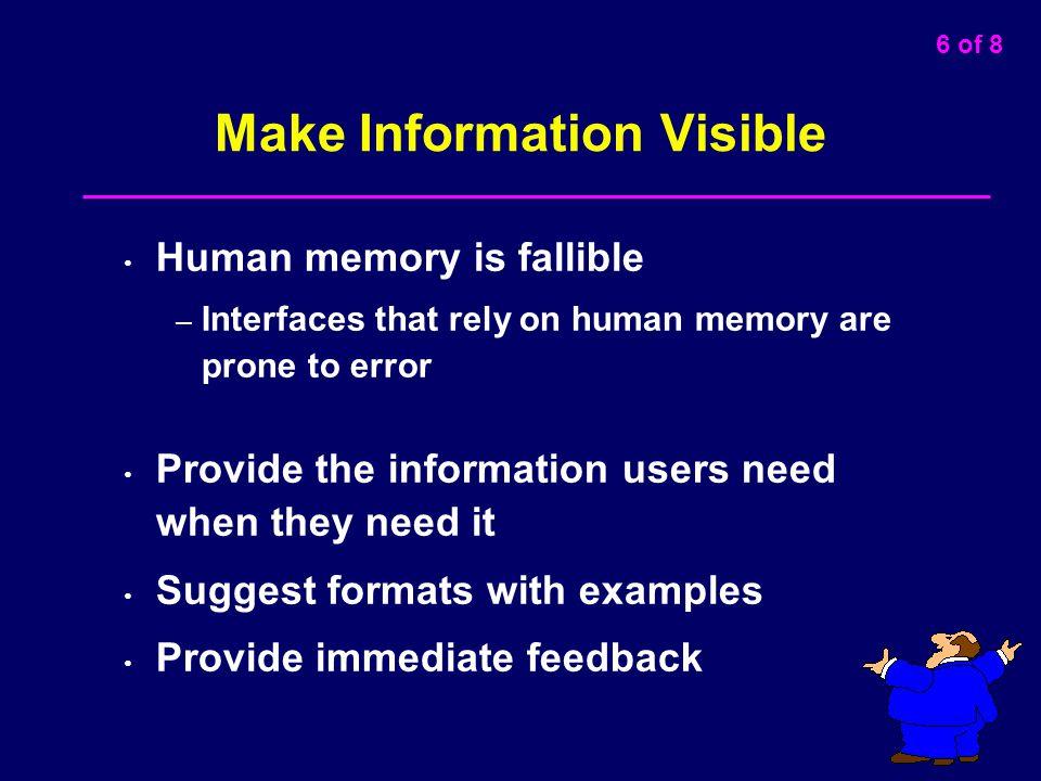 Make Information Visible