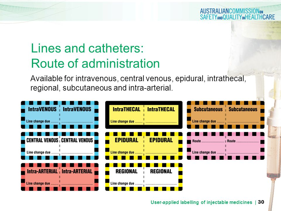 Lines and catheters: Route of administration