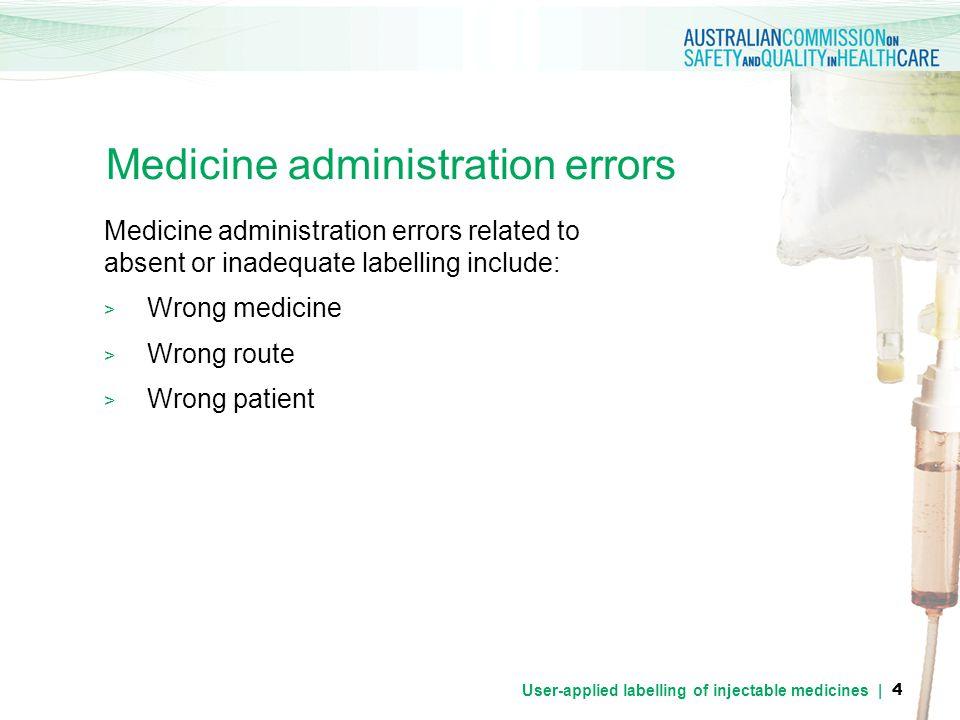 Medicine administration errors
