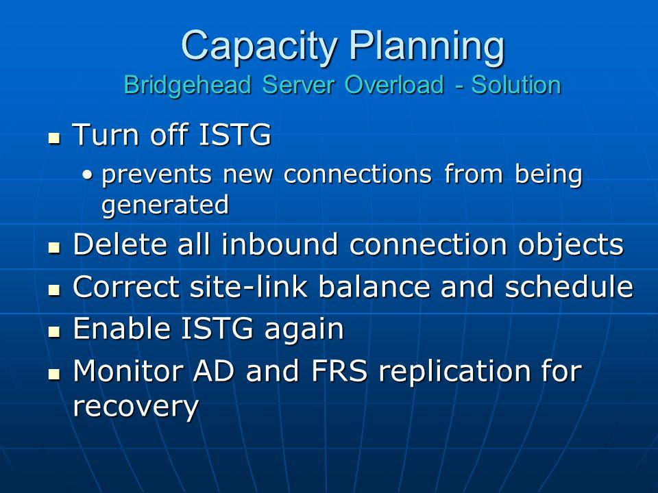 Capacity Planning Bridgehead Server Overload - Solution