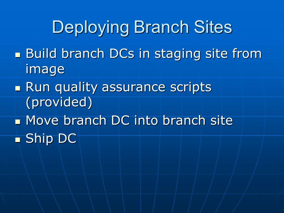 Deploying Branch Sites
