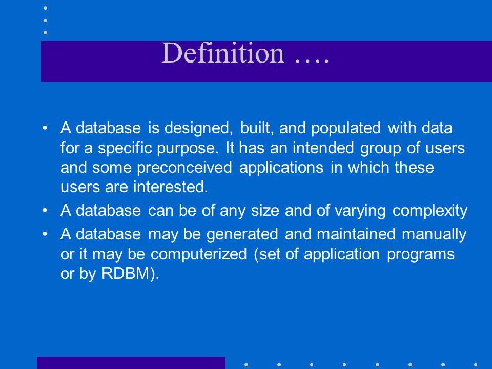 Definition ….