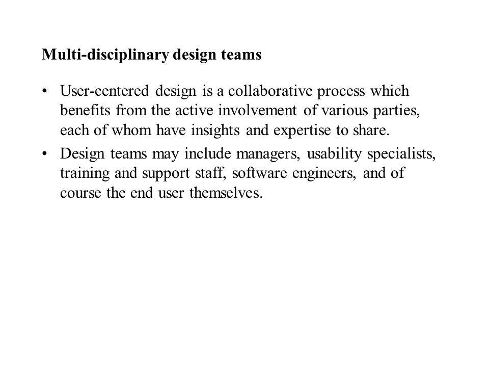 Multi-disciplinary design teams