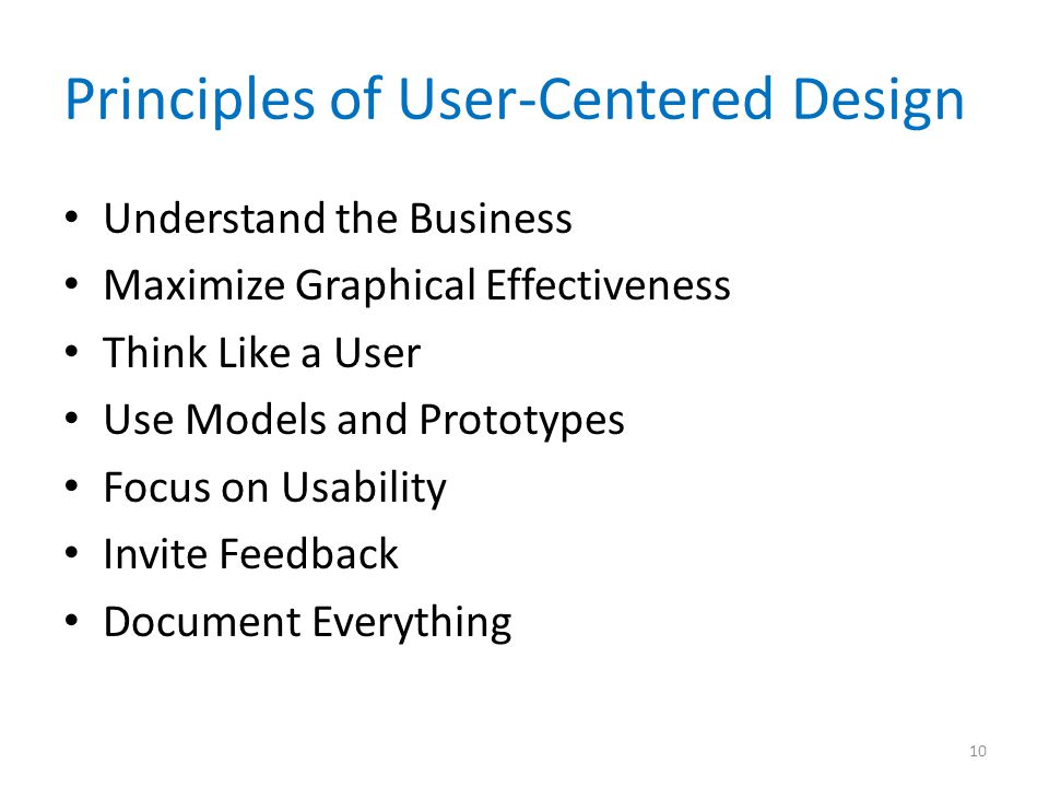 Principles of User-Centered Design