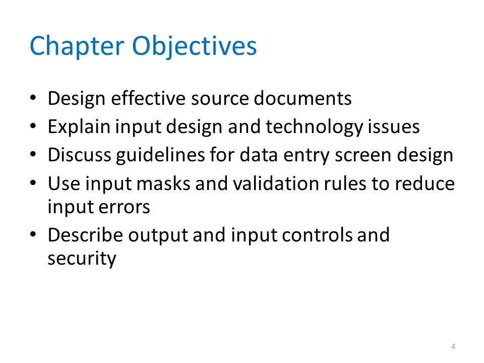 Chapter Objectives Design effective source documents
