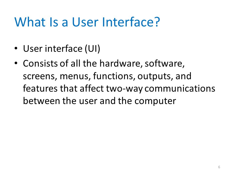 What Is a User Interface