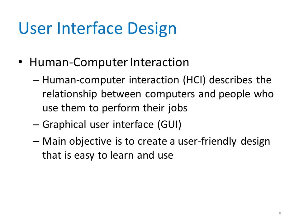 User Interface Design Human-Computer Interaction