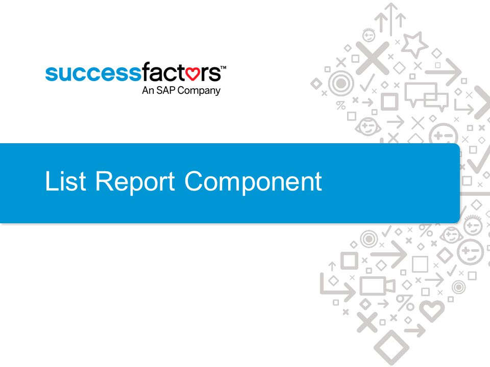 List Report Component