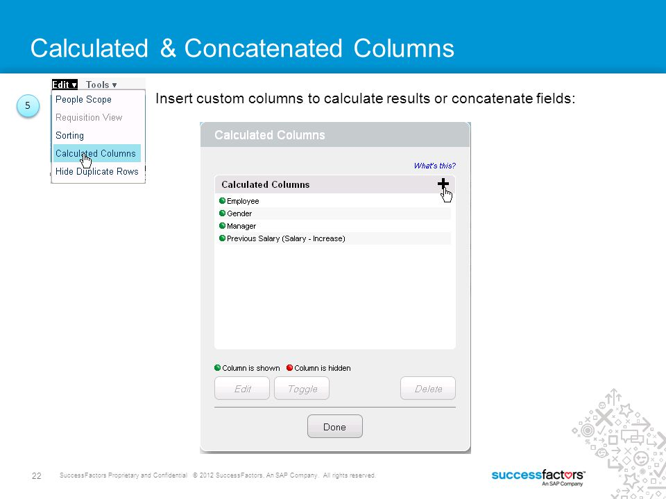 Calculated & Concatenated Columns