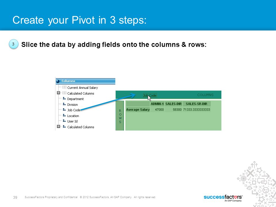 Create your Pivot in 3 steps: