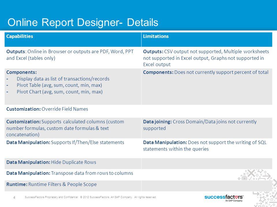 Online Report Designer- Details